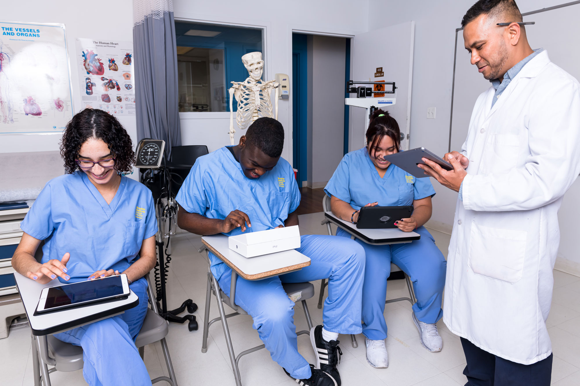 Three Medical Assistant Students - Swedish Institute - New York, NY