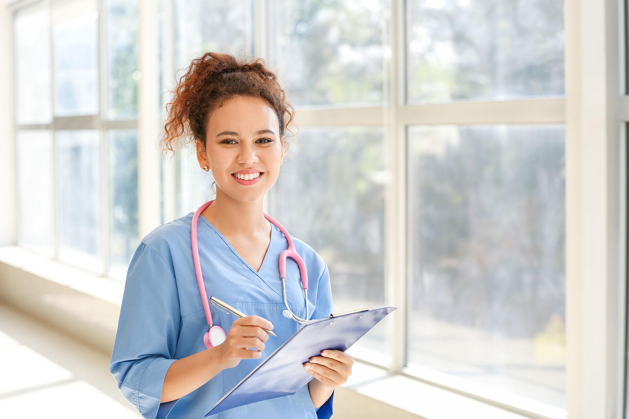 Continuing Education Hero Image - Female Nurse with Stethoscope - Swedish Institute - New York, NY